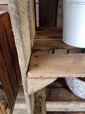 2 x alte Obstkiste - gebraucht - geflammt mit Zwischenboden Holzkisten mit Regal von Cronenwerth -