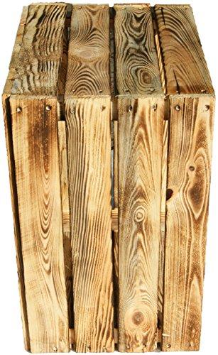 4 Stück flambierte / geflammte massive Obstkisten ca 49 x 42 x 31cm/ Apfelkisten Weinkisten aus dem Alten Land -