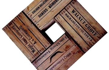 4 Stück massive - gebrauchte Holzkisten mit 4 verschiedenen Motiven ! -