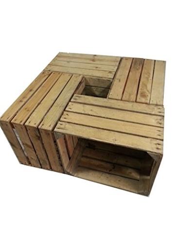 4 Stück massive - gebrauchte Holzkisten - Weinkisten - für Möbelbau - Shabby v. Cronenwerth -