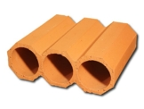 5 Stück - Weinlagersteine aus Ton - Bouteilles trois - ®Rimini Baustoffe GmbH -