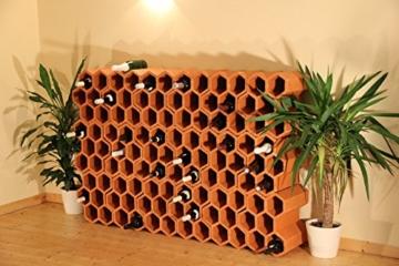5 Stück - Weinlagersteine aus Ton - Casier 6Trou - ®Rimini Baustoffe GmbH -