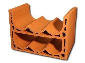 5 Stück - Weinlagersteine aus Ton - Casier Sixx - ®Rimini Baustoffe GmbH -