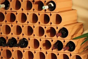 6 Stück Bouteilles Un - 1er Weinlagersteine aus Ton - ®Rimini Baustoffe GmbH -