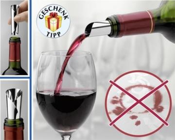 6 Stück Drop Stop Ausgiesser DropStop® Weinausgiesser tropffrei in Geschenkbox -