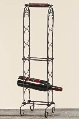 6er Flaschenregal Boris, Weinregal, Weinflaschenständer, Weinflaschenregal, Weinflaschenhalter, Höhe 73 cm, Breite 24 cm -