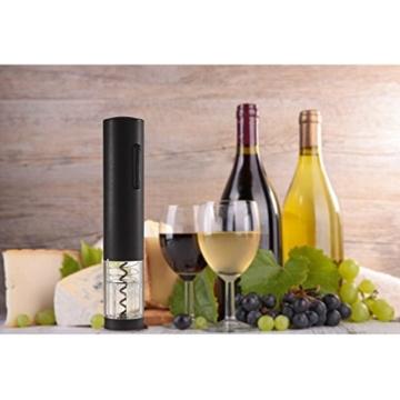 Aidodo Elektrischer Korkenzieher Wein Elektrisch Weinöffner Set mit Folienschneider Wein Ring und Weinkorken Wein Ausgießer -