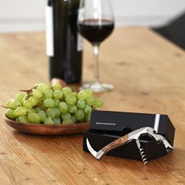 ALBARGO - Weinzubehör -Weinflaschenöffner professionelles Kellnermesser, Sommeliermesser mit 2 Stufen Korkenzieher und integriertem Flaschenöffner, inkl. edler Geschenkverpackung -