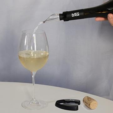 Amazy Edelstahl Weinkühler - Für einen optimal temperierten Wein ohne Verdünnen und Geschmacksverlust -