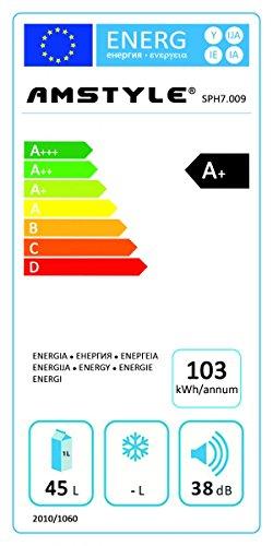 Amstyle Weinkühlschrank SlimLine 2 Temperaturzonen Klima-Zonen Schwarz 45 Liter 16 Flachen Getränkekühlschrank 8-18°C Weinkühler Weinklimaschrank Glastür Freistehend Rot & Weißwein Höhe 95cm (EEK: A+) -
