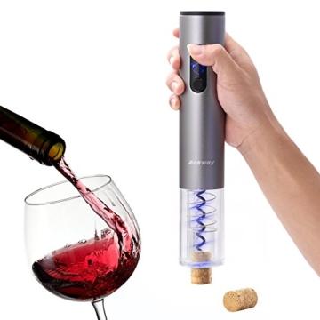Ankway Automatisch Elektrischer Weinöffner Flaschenöffner, Batteriebetrieb -- Schwarz -