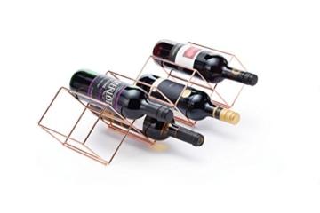 Bar Craft Weinregal, 58 x 14,5 x 14,5 cm, 7 Flaschen, stapelbar -