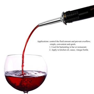 BESTOMZ Edelstahl Flaschenausgießer Weinausgießer Ausgießer Flasche Stopfen aus Edelstahl mit konischer Tülle, 12 Stück -