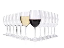 Bluespoon Weingläser Set aus Glas 12 teilig | 6 Rotweingläser ca. 580 ml | 6 Weißweingläser ca. 430 ml | Das perfekte Set für Weinliebhaber -