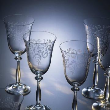 Bohemia Cristal 093 006 012 Weinkelche ca. 350 ml aus Kristallglas 6er Set
