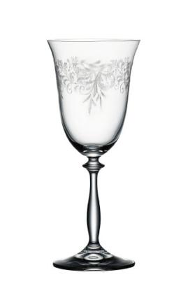 "Bohemia Cristal 093 006 012 Weinkelche ca. 350 ml aus Kristallglas 6er Set ""Romance"" -"