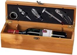 Carlo Milano 5-tlg. Sommelier-Set in edler Geschenkbox für 1 Weinflasche -
