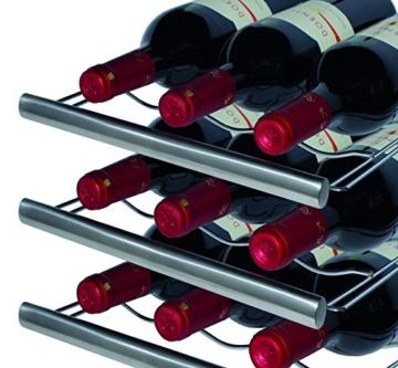 CASO WineDuett Touch 12 Design Weinkühlschrank für bis zu 12 Flaschen (bis zu 310 mm Höhe), zwei Temperaturzonen 7-18°C -