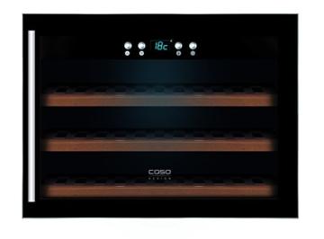 CASO WineSafe 18 EB Design Einbauweinkühlschrank für bis zu 18 Flaschen (bis zu 310 mm Höhe), eine Temperaturzone 5-22°C, Energieklasse A -