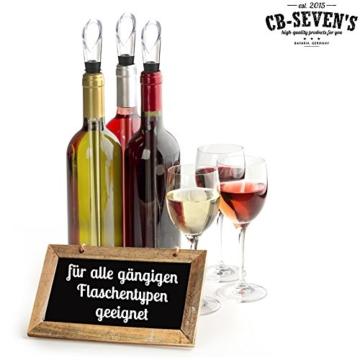 cb-seven's Premium Weinkühler | mit Edelstahl-Kühlstab und Dekantierausgießer | hochwertig, innovativ & edel -