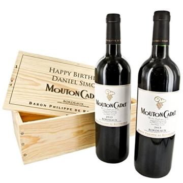 Das Mouton-Rothschild Duo - 2 Flaschen Mouton-Cadet mit Ihrer individuellen Gravur -