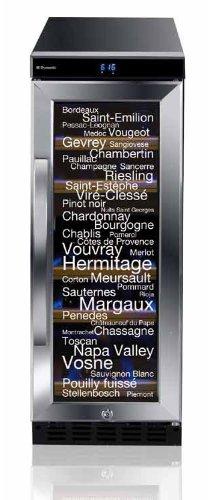 Dometic  Zwei-Zonen Weintemperierschrank D15 / B / 86.5 cm Höhe / 164 kWh/Jahr / Der Dometic D15 bietet zwei Temperaturzonen, individuell regelbar im Temperaturbereich von 5 °C bis 22 °C. / schwarz / 17 Flaschen -