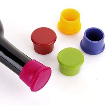 Edealing 5PCS Silikon Vakuum versiegelt Sekt Champagner Weinflasche Saver Stopper Cap -