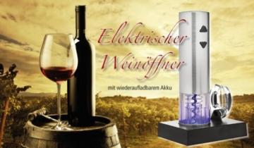 Elektrischer Weinöffner automatisch, Weinflaschenöffner Set, Korkenzieher Profi mit Akku, Geschenk-Idee -