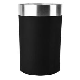 Emsa 507602 Flaschenkühler, Soft-Touch, Integriertes Kühlgel, 6 St. Kalt, Gefriergeeignet, Schwarz, Thermo -