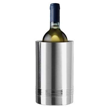 Emsa 639101600 Flaschenkühler, Edelstahl, Für Wein- oder Sektflaschen, Senator -