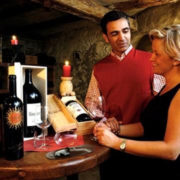 ENROSE Korkenzieher Weinflasche Opener Sommelier Kellnermesser Holzgriff Edelstahl Doppel-schwenkbar Wein wichtige perfekt als Geschenk für Weinliebhaber -