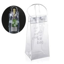 Foxnovo Dauerhaft klare, transparente PVC-Champagner Wein Ice Bag Tasche Kühltasche mit Griff -