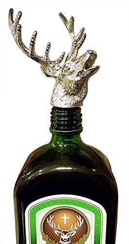 FREEMASTER Flaschenverschlüsse Weinausgießer Hirschkopf Stopper Wein und Bier (Schwarz Deer) -