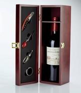 Geschenkset Weinbox, Weinkiste, Sommelierset mit 1 Flasche französischem Rotwein Cabernet Syrah - ideale Geschenkidee für Weinkenner! -