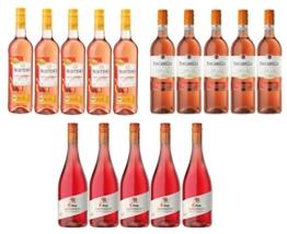 Großes Roséwein Probierpaket Halbtrocken (15 x 0.75l) -