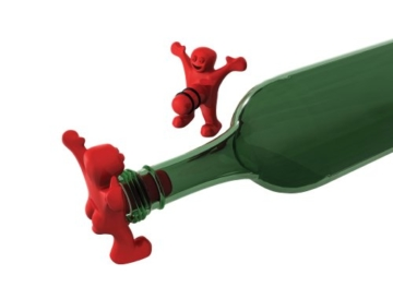 Happy Man Bottle Stopper-Flaschenverschluss -