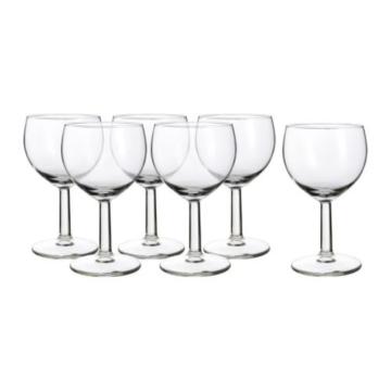 """IKEA 6-er Set Weißweingläser """"Försiktigt"""" Gläserset mit sechs Weingläsern – mit 16cl Inhalt – spülmaschinenfest -"""