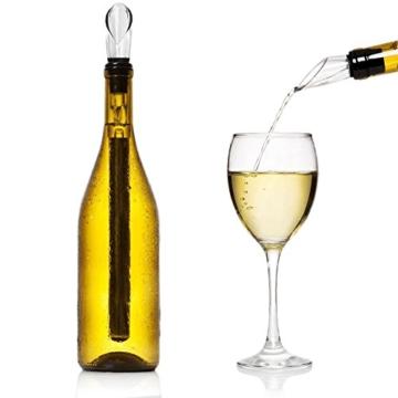 iStwahl Weinkühler - Premium 2 in 1 Flaschenkühler Edelstahl Kühlstab mit Dekantierausgießer -