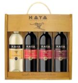 Kaya Weinpaket Südafrika mit Holzkiste (4 x 0.75 l) -