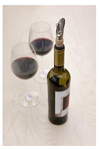 Kikkerland Kork Wein Ausgießer, beige -