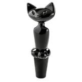 Koziol 3744526 Flaschenverschluss Miaou, Kunststoff, schwarz, 27 x 40 x 112 cm -