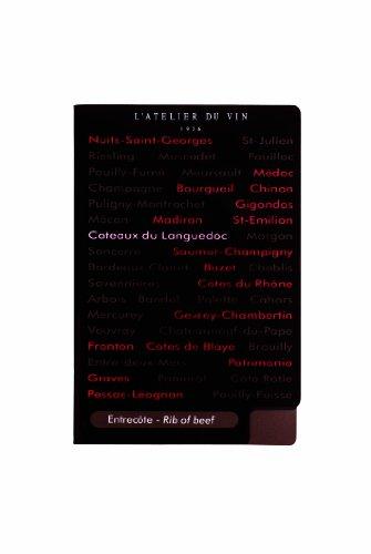L'Atelier du Vin 095261-2 Korkenzieher-Set Sommelier (Set m. Tropfring und Wein-/Speisenführer) -