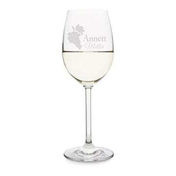 Leonardo Weinglas mit individueller Gravur - Weintrauben - Weißweinglas 370 ml -