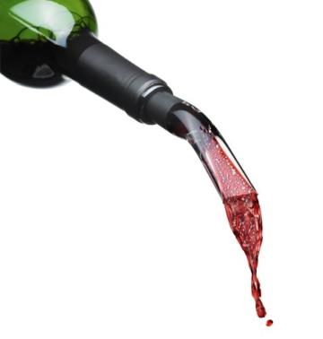 Menu 4621539 Enjoy Water & Wine Blade Dekantierungsausgiesser, schwarz -