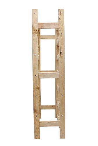 Modo24 RW-1-42 Weinregal, Holz, Unbehandelt, 63.0 x 25.0 x 102.0 cm -