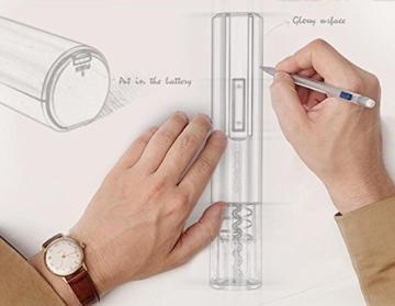 MYTK Elektrischer Korkenzieher für Weinflaschen. Batterie betriebener Weinflaschen-Öffner mit händischem Folien-Schneider -