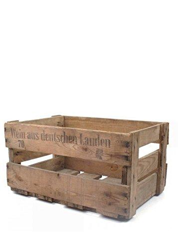 Originale alte Pfälzer Weinkiste aus echtem Holz mit Aufdruck -