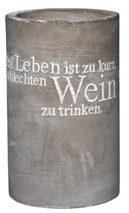 P.e.T. Vino Beton Weinkühler Das Leben ist zu kurz.ca 21cm -