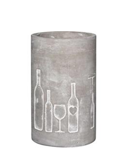 P.e.T. Vino Beton Weinkühler Design: Flasche und Glas -