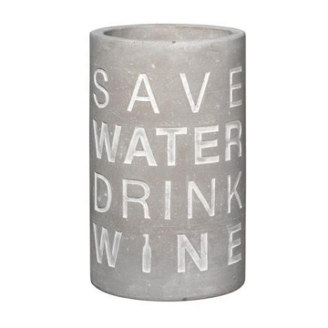 P.e.T. Vino Beton Weinkühler Save water ca 21 cm hoch -